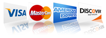 accept all major credit cards1